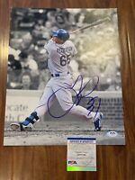 Joc Pederson Autographed 11x14 PSA COA Los Angeles Dodgers MLB