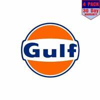 Gulf Oil Gasoline 1 4 Stickers 4x4 Inch Sticker Decal