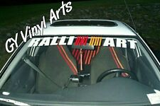 Mitsubishi RalliArt Evo Windshield Decals Cars Stickers Banners