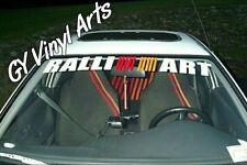 Mitsubishi RalliArt Evo Windshield Decals Cars Stickers Banners