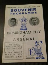 Birmingham City v Arsenal Programme 11/03/67