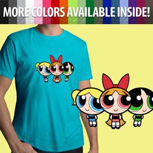 Powerpuff Girls 90s Nostalgia Cartoon Classic Show Unisex Mens Tee Crew T-Shirt