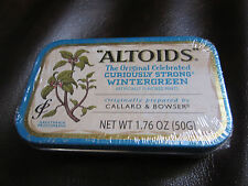 """Rare """"ALTOIDS"""" Wintergreen Mints with """"Less Than 2% Artificial Flavor SEALED TIN"""