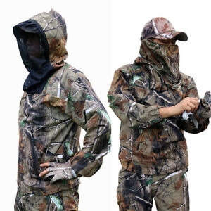 Summer Hunting Fishing Bionic Breathable anti-mosquito Ghillie Suit Jkt+pants