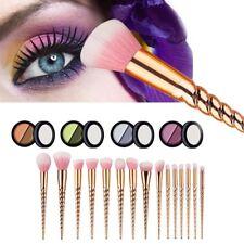 15Pcs Unicorn Rose Gold Makeup Cosmetic Brushes Tool Eyeshadow Powder Brush New