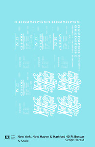 K4 S Decals New Haven 40 Ft Boxcar White Script Logo