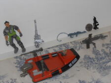 Vtg. 2003 Lanard Soldier, Boat, Motor and Automatic Weapons Toy Set