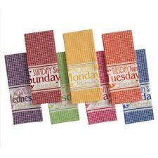 New Design Imports Brights Days of the Week Dishtowel Set of 7