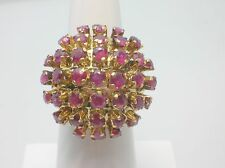 VINTAGE 18K LARGE DOME RUBY RING-SIZE 5.75 US - 6.6 GRAMS-VERY NICE-BUY IT NOW