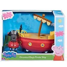Nuevo Peppa Pig Abuelo Perro Lancha Barco Pirata Conjunto de Juego