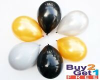 Gold & Black Latex Balloon helium&air quality for birthday weddings party baloon