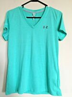 Under Armour Threadborne Train Twist V-Neck Athletic Shirt Women's Size S Teal