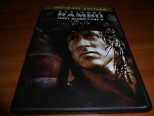 Rambo - First Blood Pt. 2 (DVD, 2004 Widescreen) Sylvester Stallone Used Part II
