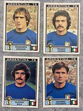 4 ORIGINAL 1978 PANINI ARGENTINA 78 UNUSED ITALY STICKERS ARG-915 World Cup