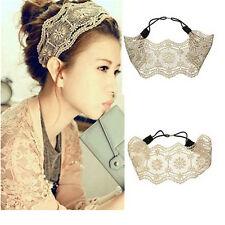 Retro Women Girl Lace Headband Hair Band Wide Headwrap Hair Accessoriesn SEAU