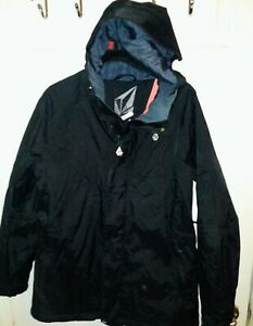 Volcom Womens Rain Ski Snow Size M Jacket Coat 15000mm Black. Not heavy. Nice.