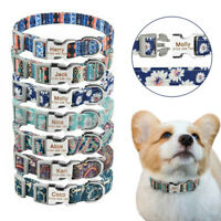 Personalized Dog Collar Durable Puppy Dogs Pet Name Number Free Engraved Collars