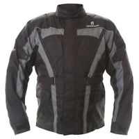 Oxford Spartan J14 Waterproof CE Textile Motorcycle Jacket - Black / Grey