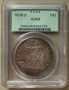 1878-S Trade Dollar PGGS AU58 San Francisco