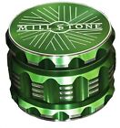 Millstone Tobacco Herb Grinder 4-Piece Metal 2.5 inch Large Magnetic Top Green photo
