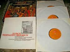 J.S. BACH WEIHNACHTS ORATORIUM 3 LP BOX SET BASF 59 21749-3 STEREO 1973 NEAR MIN