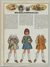 1977 McCalls Paper Dolls Betsy McCall Is Adopted By A Cat Print Ad