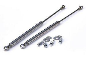 For VW Golf MK3 3 Cabrio Chrome Bonnet Hood Gas Lifter Lifts Dampers Struts Ram