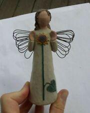 "Rare Vintage 5.25"" Willow Tree Figurine Angel Of Summer Sunflower Demdaco Look"
