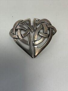 VINTAGE Hallmarked Silver Celtic Brooch