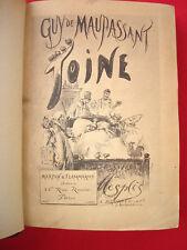 Toine par MAUPASSANT illustré MESPLES 1885 N° 57 Hollande EDITION ORIGINALE RARE