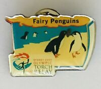 Fairy Penguins Sydney 2000 Olympics Torch Relay Pin Badge Vintage (J9)