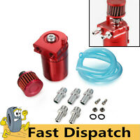 300ml Oil Catch Can Breather Baffled Alloy Petrol Diesel Turbo Tank Filter Red
