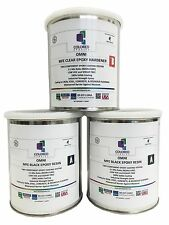 BLACK EPOXY RESIN 100% SOLIDS FOR GARAGE FLOOR,PLYWOOD, CONCRETE. 3 QT KIT