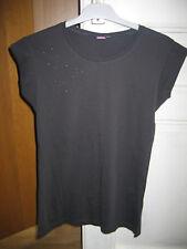 T-shirt gris foncé avec strass Kiabi TBE - 16 ans