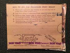 Vintage 60s NEW Sealed 9 Polacolor Print Mount Polaroid Camera Photo Backs 1967