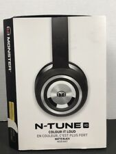 NEW Monster N-Tune Noise Isolation Wired On-Ear Headphones - Black