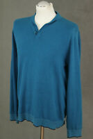 TED BAKER Mens Turquoise LOKSTOK Collared JUMPER - Ted Size 4 - Large - L