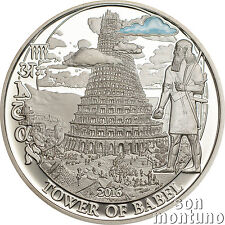 TOWER OF BABEL - Biblical Stories Silver Proof Coin in Box with COA - 2016 Palau