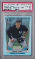 2014 BOWMAN CHROME REFRACTOR DRAFT PICK AARON JUDGE PRE ROOKIE CARD PSA 10