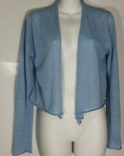 Eileen Fisher Cardigan Sweater S Small Simple Cropped Lightweight Open Front NWT