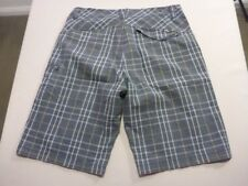 088 MENS EX-COND FOX RIDERS WENGE / TAUPE FADE CASUAL SHORTS SZE 34 $80 RRP.