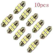 10PCS 31mm 4 LED 5050 SMD Festoon Dome Car White Light Interior Lamp Bulb 12V hs