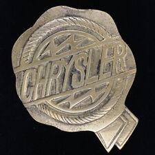 Chrysler Automobile Auto Co Fiat Abzeichen Emblem Logo Messing 70s Vintage Gurt