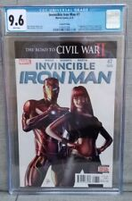 INVINCIBLE IRON MAN 7 CGC 9.6 WHITE PAGES - 1st App of Riri Williams 2nd PRINT