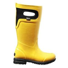 NEW Bogs 4 Kids Girls Yellow Tacoma Lined Winter Insulated Rain Boots Sunglow GS