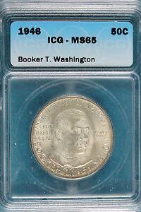 1946 ICG MS65 Booker T. Washington Commemorative Half Dollar!!! #B2453