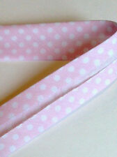 Sesgo de color rosa pálido Lunares 30 mm vinculante por Fany en una longitud 2 M