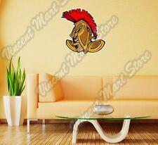 "Spartan Trojan Soldier Helmet Head Gift Wall Sticker Room Interior Decor 22""X22"""