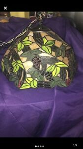 """Tiffany Style Lamp Hanging  Chandelier Lighting Stained   Glass 16"""""""