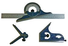 Kombinationswinkel mit Wasserwaage und Winkelmessgerät Messbereich 300 mm Neu